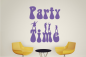 Preview: Wandtattoo-Party-Time-W2248