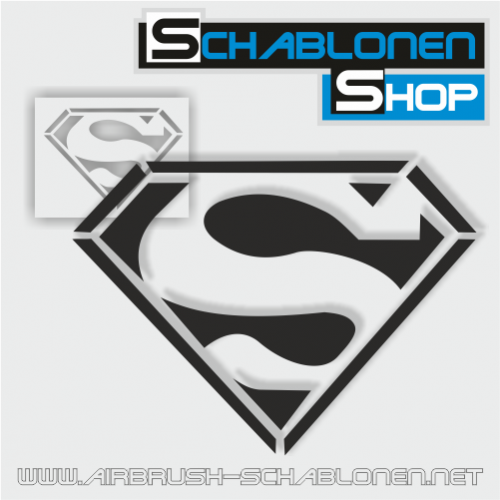 Tattoo Schablone Superman - TA90  - www.airbrush-schablonen.net