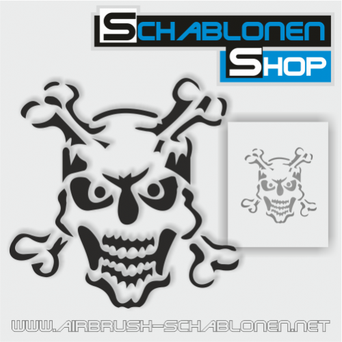 Tattoo Schablone Skelett 01 - TA10
