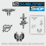 Tattoo Schablonen SET 13