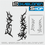 Tribal Schablonen Set02