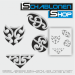Tribal Schablonen Set04
