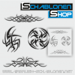 Tribal Schablonen Set12