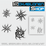 Tribal Schablonen Set17