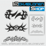 Tribal Schablonen Set20