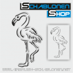 Tattoo Schablone Flamingo 01