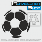 Tattoo Schablone Fussball 1