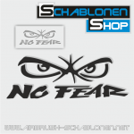 Tattoo Schablone NO FEAR klein