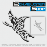 Tattoo Schablone Schmetterling 01